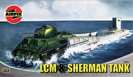 LCM and Sherman tank