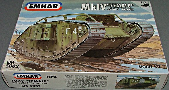 "MkIV ""Female"" WWI Tank"