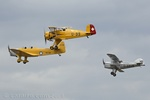 The Magister, Jungmeister and Active in a close formation flypast