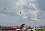 The helicopter flypast