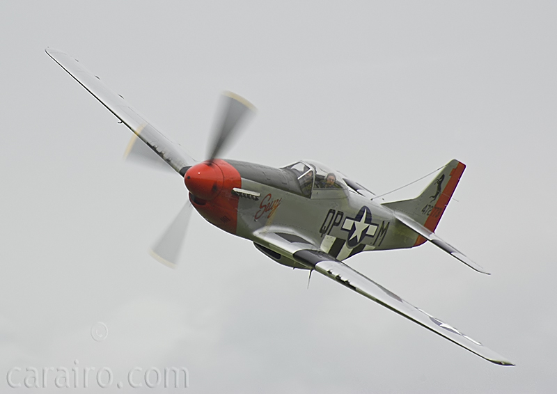 Mustang fly past