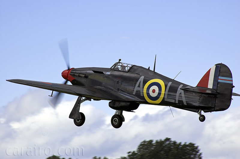 Hurricane taking off
