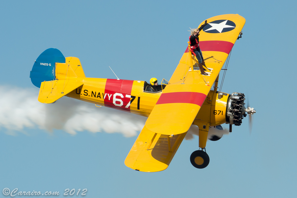 The fly-in coincided with a wing walking day
