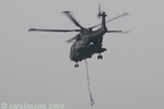 As the Merlin flies off into the gloom you can see the rear ramp.