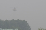 This photo shows just how bad the conditions were. After flying over Bubwith this Sea King HAR3 approached the airfield.