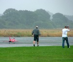 Thanks must go to the Eurofighter pilot for putting on a display in the rain!