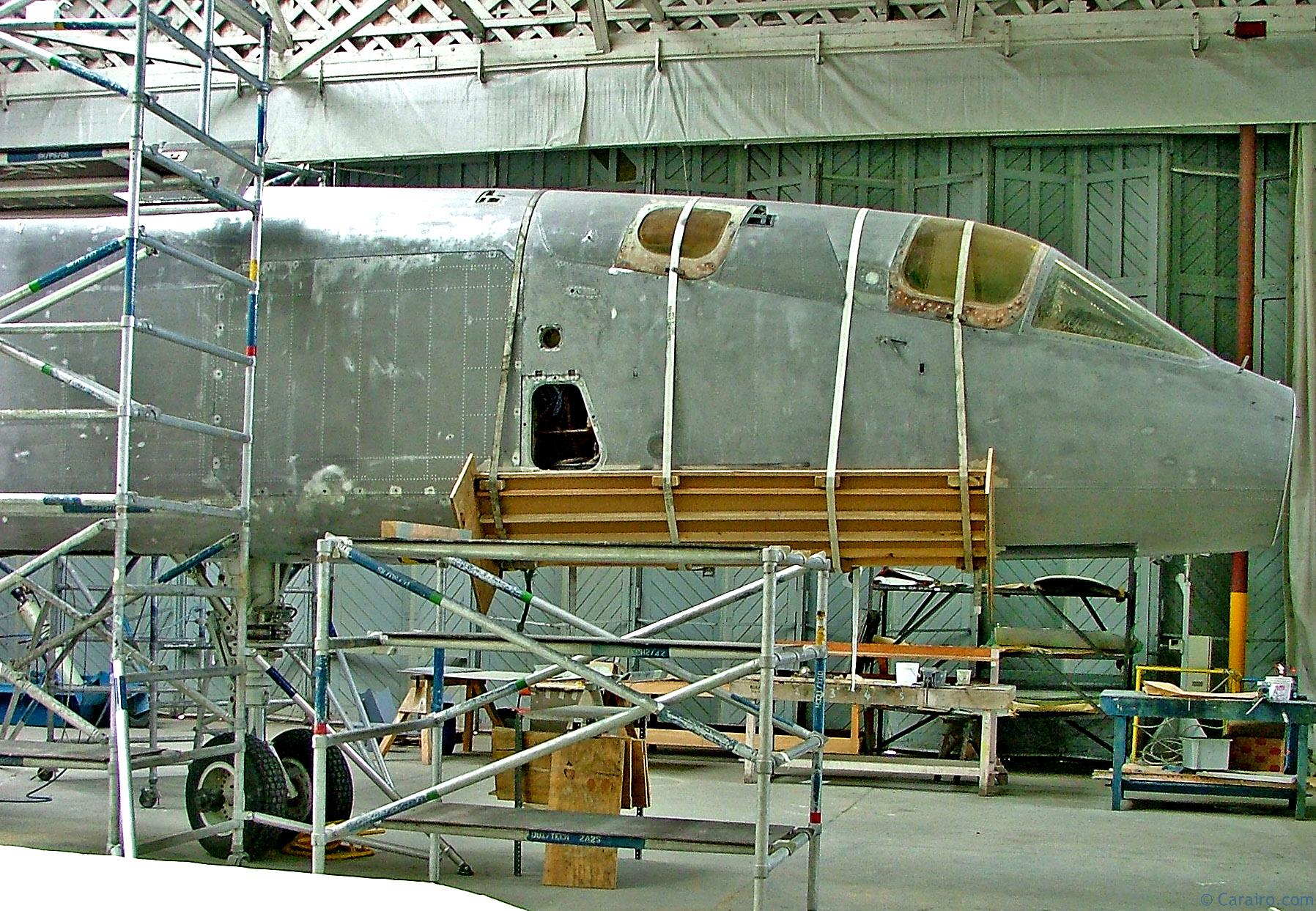 TSR2 ready for a repaint