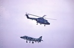 Royal Navy Lynx and Sea Harrier