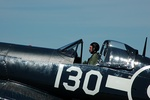 Corsair pilot and canopy
