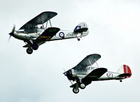 Hawker Hind and Gloster Gladiator