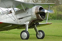 Gloster Gladiator taxis to the runway