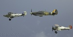 Hawker Hind, Hawker Sea Hurricane and Gloster Gladiator in close formation