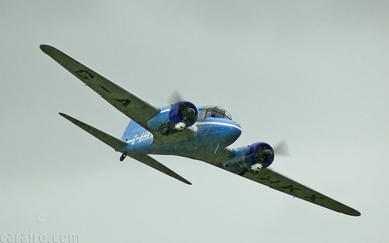 The Avro Nineteen Anson displayed in heavy rain