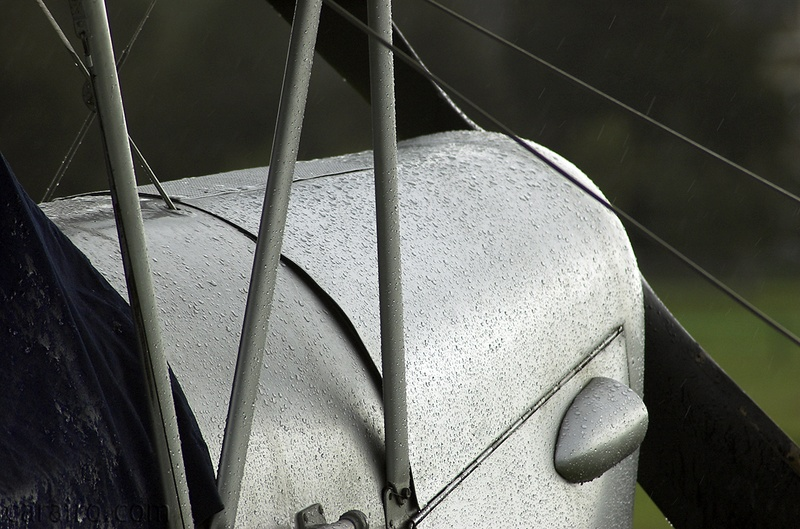 Tiger Moth cowling in the rain
