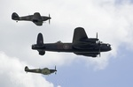 BBMF Lancaster PA474 , Spitfire MkIIa P7350 and Hurricane MkIIc PZ865