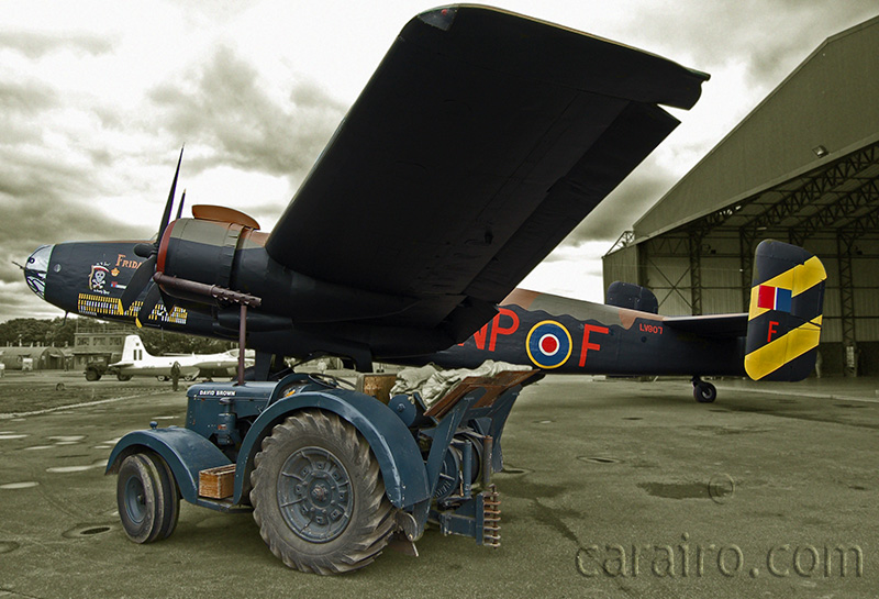 Halifax with RAF David Brown Tractor