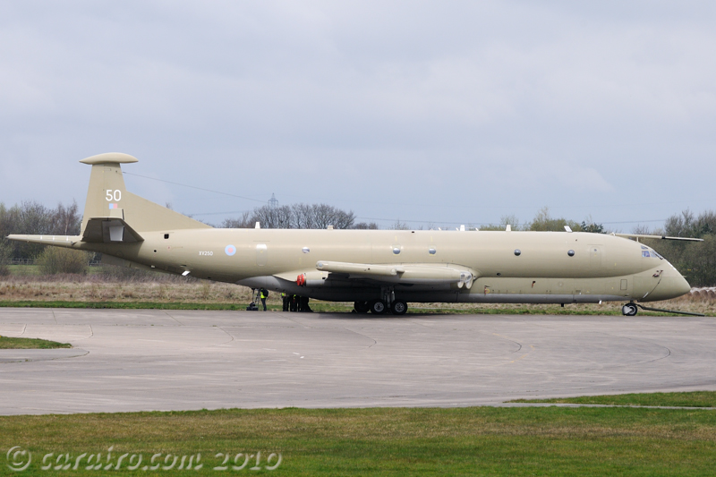 Nimrod awaiting a tow into the Yorkshire Air museum at Elvington
