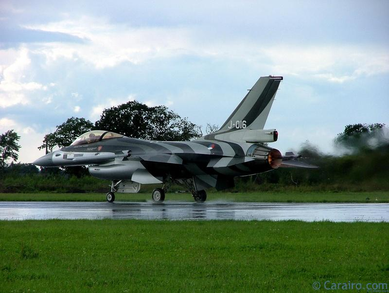 F-16 about to take off