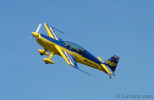 Denny Dobson thrilled the crowds with amazing aerobatics
