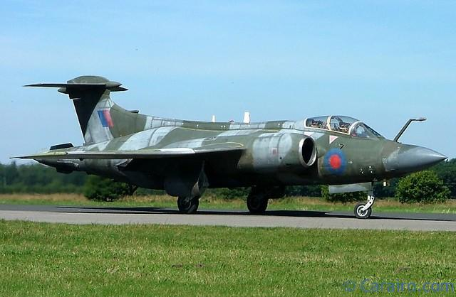 The museum's taxiable Buccaneer also put on a display