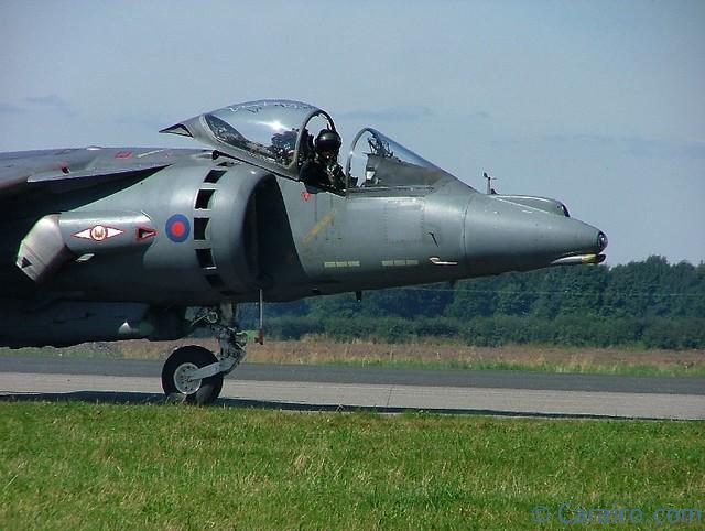 Harrier Pilot waves to the crowd