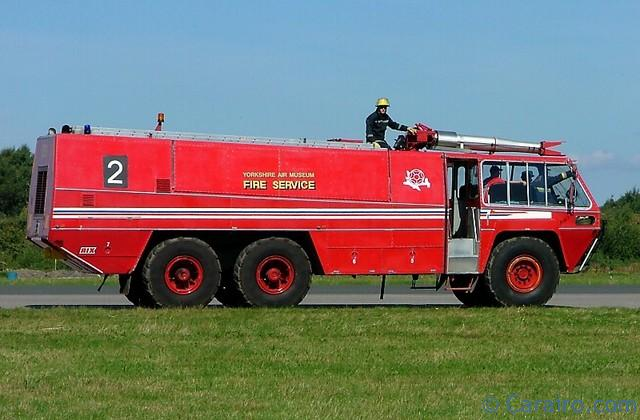 The Yorkshire Air Museum's Reynolds Boughton Chubb Pathfinder Airport Crash Tender - donated to the Museum by Manchester International Airport